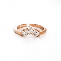 Pear Diamond Contour Band