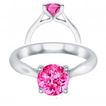 Pink Sapphire Faux Trellis Cathedral