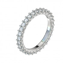 Shared Prong Side Diamond Eternity Band - Platinum