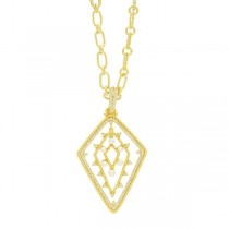 ORBIT PEARL ENHANCER PENDANT NECKLACE IN 14K GOLD