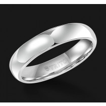 5MM Triton White Tungsten Half Round Wedding Band