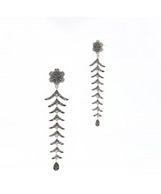 Signet Long Drop Earring