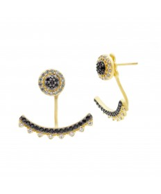 Spiked Stud Jacket Earrings