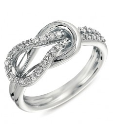 Interlocking Knot Diamond Fashion Ring