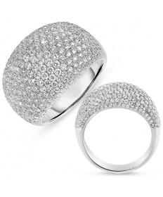Micro Pave Diamond Fashion Ring