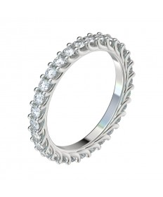 Trellis Diamond Eternity Band - Platinum