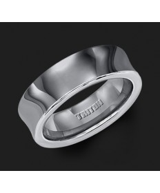 7MM Triton Tungsten Concave Wedding Band - Perspective