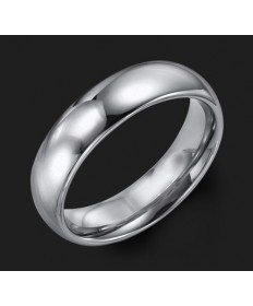 6MM Triton Gray Tungsten Half Round Wedding Band - Perspective
