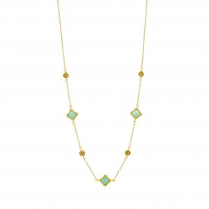 Amazonian Allure Multi Stone Station Necklace