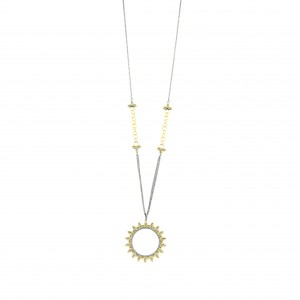 Fleur Bloom Wreath Pendant Necklace