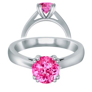 Pink Sapphire Double Prong Open