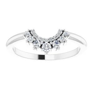 Micropave Diamond Contour Band