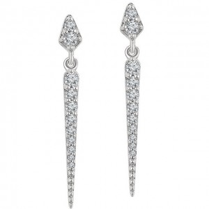 Diamond Drop Earrings - White, Rose or Yellow