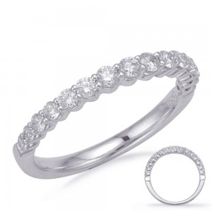 Double Shared Prong Diamond Band