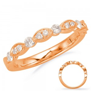 Alternating Marquise Round Band RG