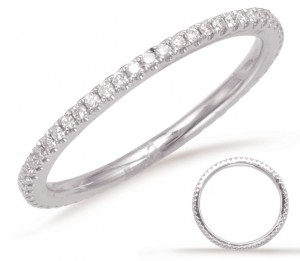 Petite Scalloped Diamond Eternity Band
