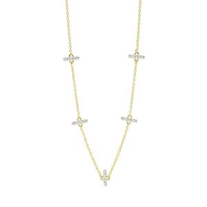 RADIANCE STATION SHORT CHAIN NECKLACE IN 14K GOLD