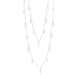RADIANCE 60 DROPLET STATION NECKLACE IN SILVER