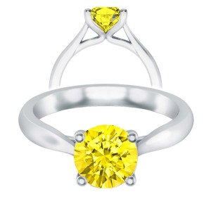 Yellow Sapphire Faux Trellis Cathedral