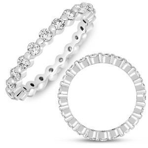 Single Prong Diamond Eternity Band