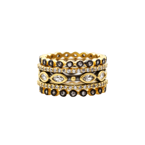 Signature Mixed Marquise Station 5-Stack Ring