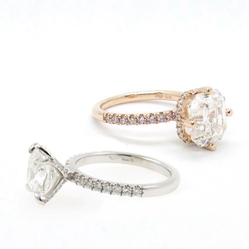 Engagement Rings with Hidden Halos