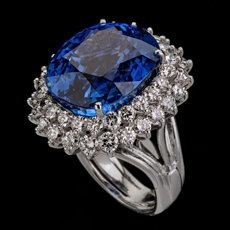 Sapphire Engagement Ring by Ethan Lord